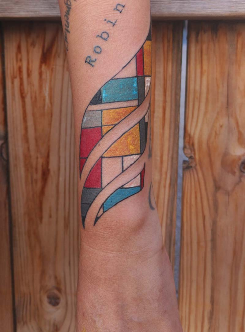 abstract tattoo color אבסטרקטי צבעוני קעקוע