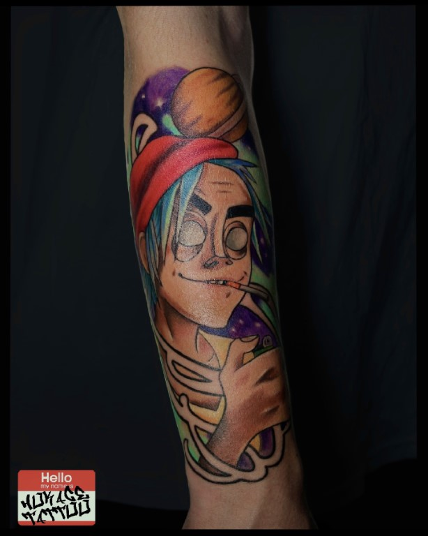 nike tattoo just do it micro realisem  קעקוע סניקר נייקי נייק אדום רגל